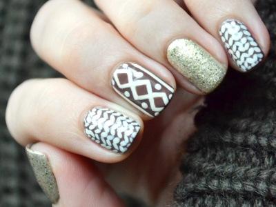 дизайн ногтей вязаный маникюр в салоне красоты фифа в подольске